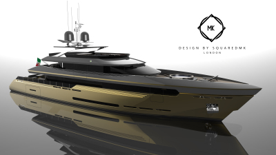 New 45m superyacht concept, Mania