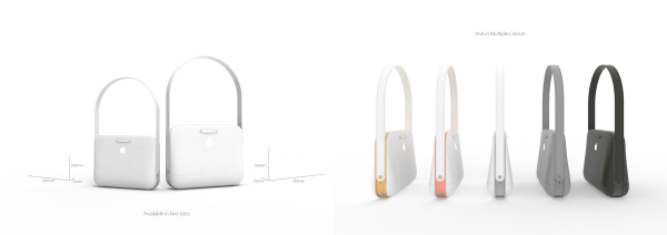 concept bag, apple, design, fashion, style, technology, purge, future, smart bag
