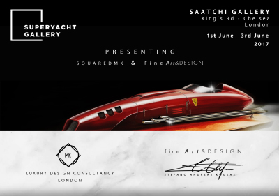 SquaredMK debut at the Superyacht Gallery - Presenting Stefano koukas Art collection and Florence