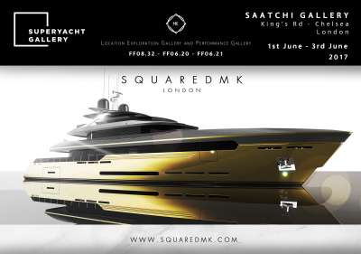 SquaredMK Superyacht Gallery Official Partner - ONE WEEK TO GO TO SUPERYACHT GALLERY!