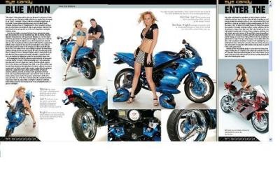 Biker Girl - Motorcycle Model
