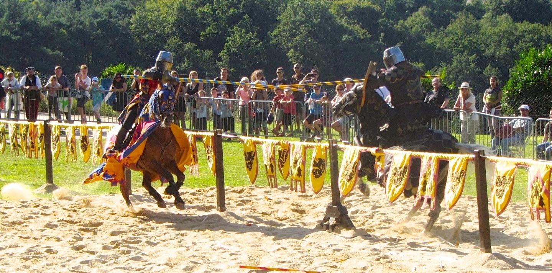 jousting at medieval festival in Domfront 2015