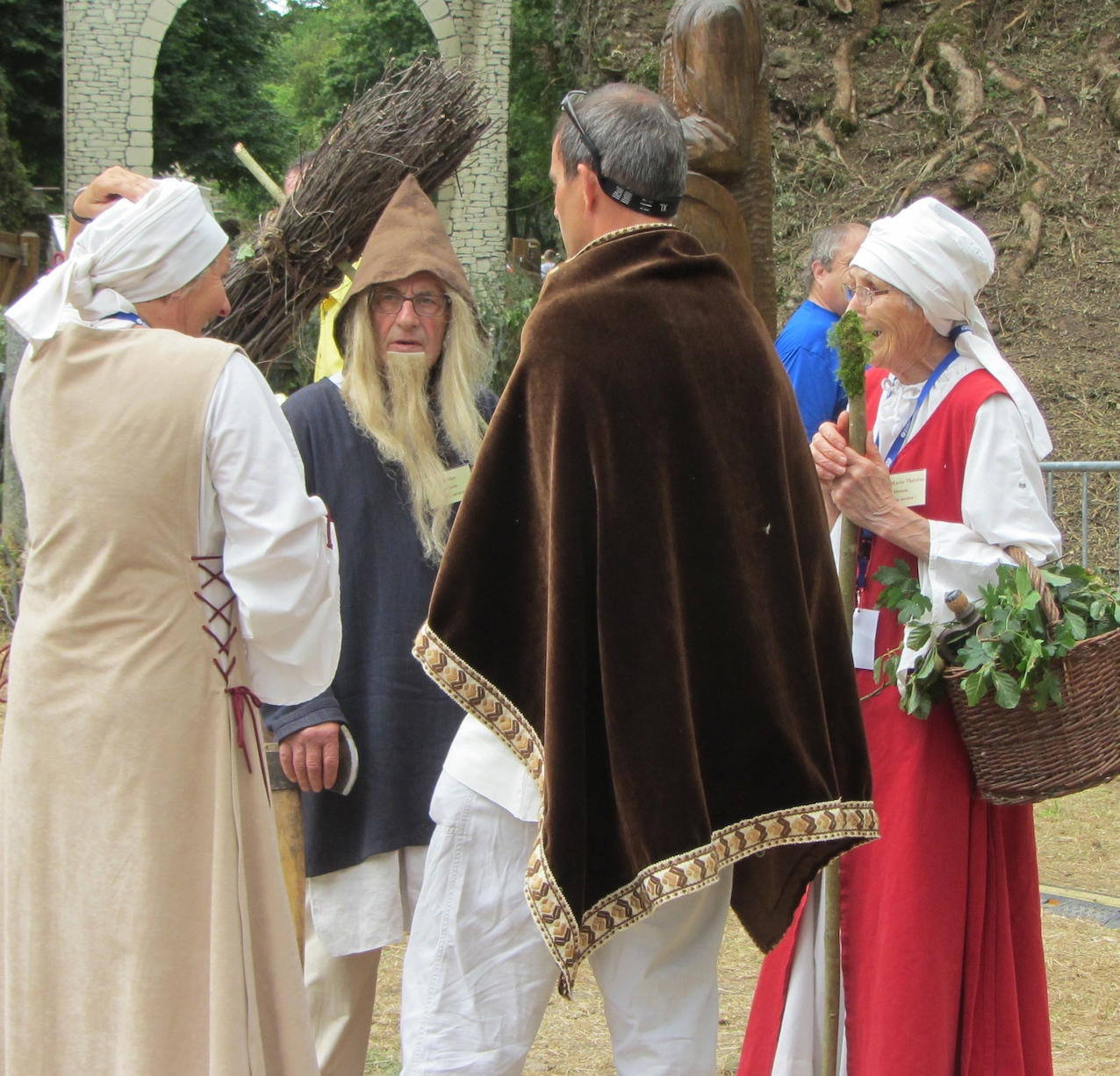 characters in medieval festival in Normandy