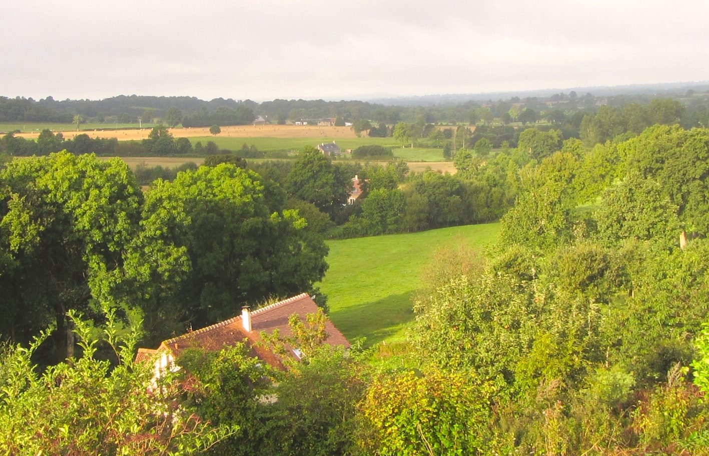 views from Le Choisel, Normandy, France