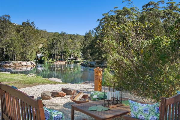 Zen garden by the Creek