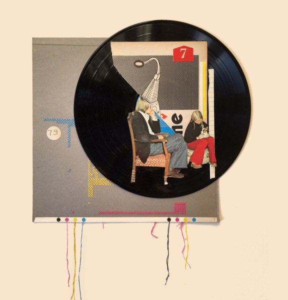 'Unplugged' Vinyl Collage