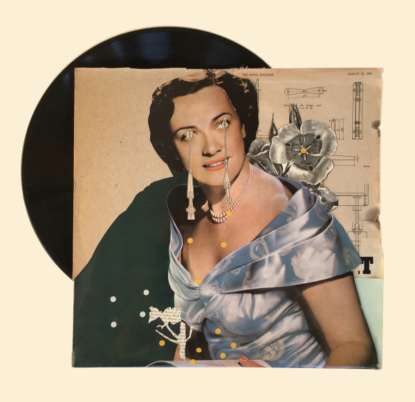 'Oh Kathy' Vinyl Collage