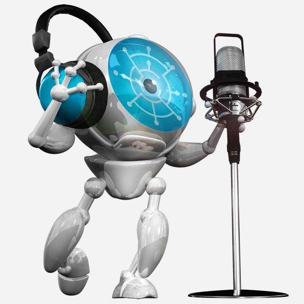 bizAR Reailty's mascot the iMan posing for media relations