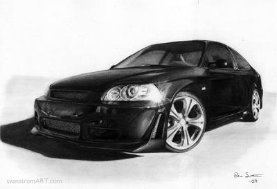 Honda Civic drawing (2009)