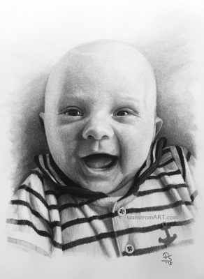 Smiley - Graphite drawing