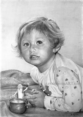 Felicia - High detailed portrait by Per Svanstrom