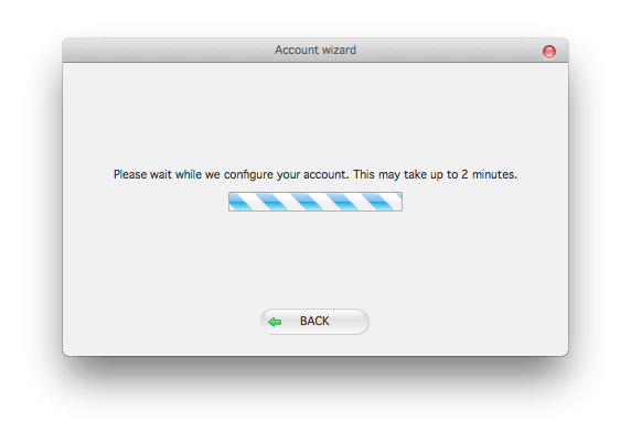 Please wait for Zoiper to configure your account.