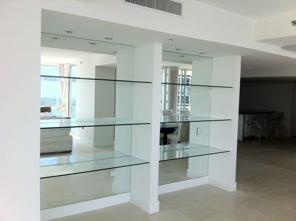 Glass Shelves And Mirrors