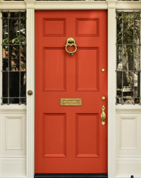 Red Front Door - Curb Appeal