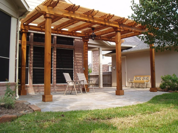Back patio arbor.