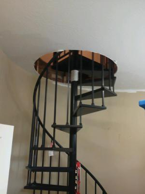 Master closet remodel.  We cut into the ceiling and converted unused attic space to a seasonal closet with an attic access door.