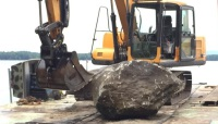 Rock Removal, Barge & Crane Services