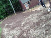 loam , seed & hay, finished leach bed area