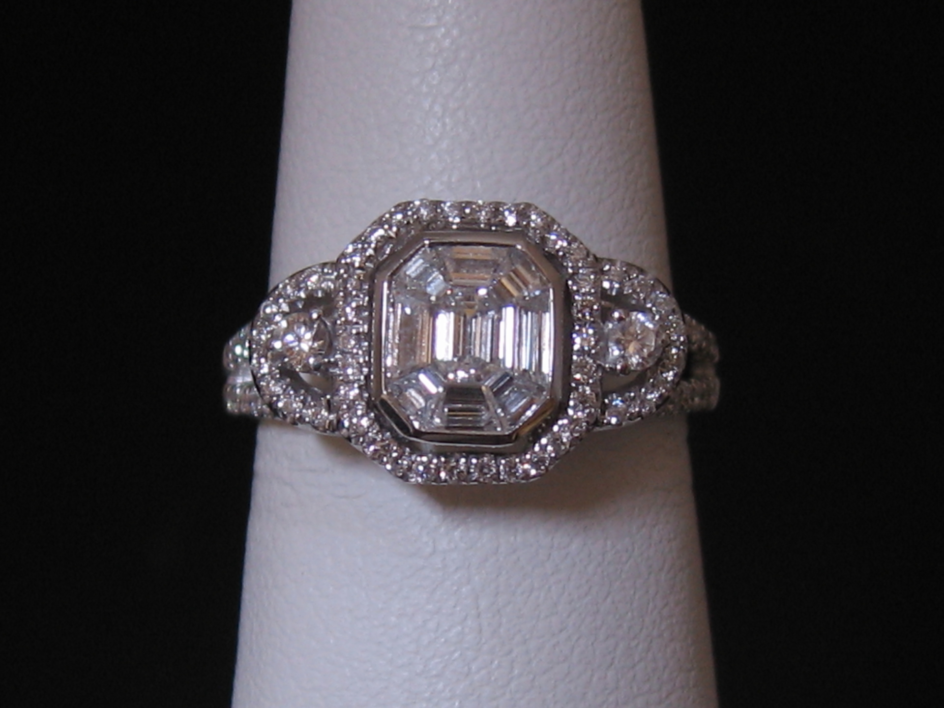Rings, engagement, platinum, gold, 14kt, 18kt