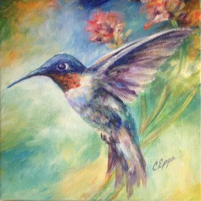 humming bird painting