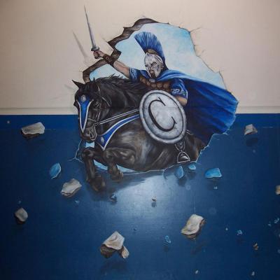 Columbia middle School mascot mural - raiders