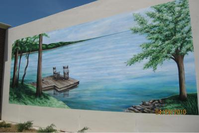 murals, paintings on walls, indoors, outdoors