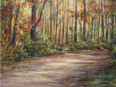 Path through the woods - a fall scene