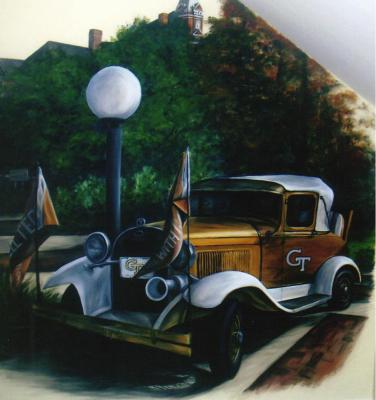 Georgia Tech Mural, Ramblin' Wreck