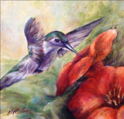 humming bird painting