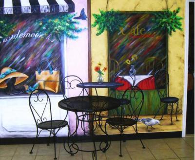 cafe mural