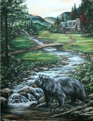 Bear by the stream