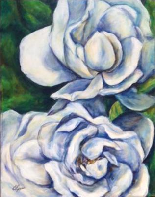 Gardenias painting