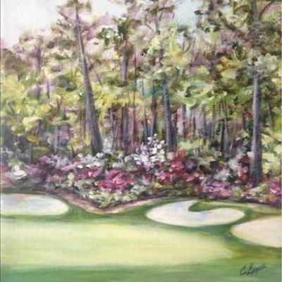 golf course painting