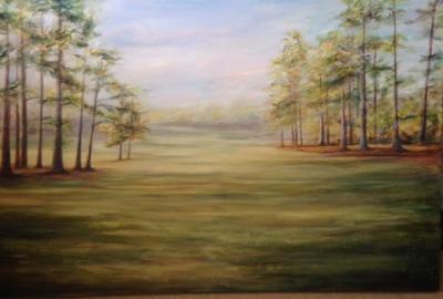 golf course, Augusta, landscape