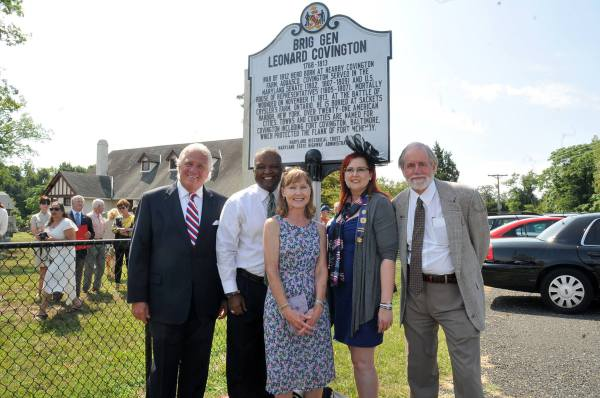 Brig Gen Leonard Covington Road Side Marker dedication.  2014