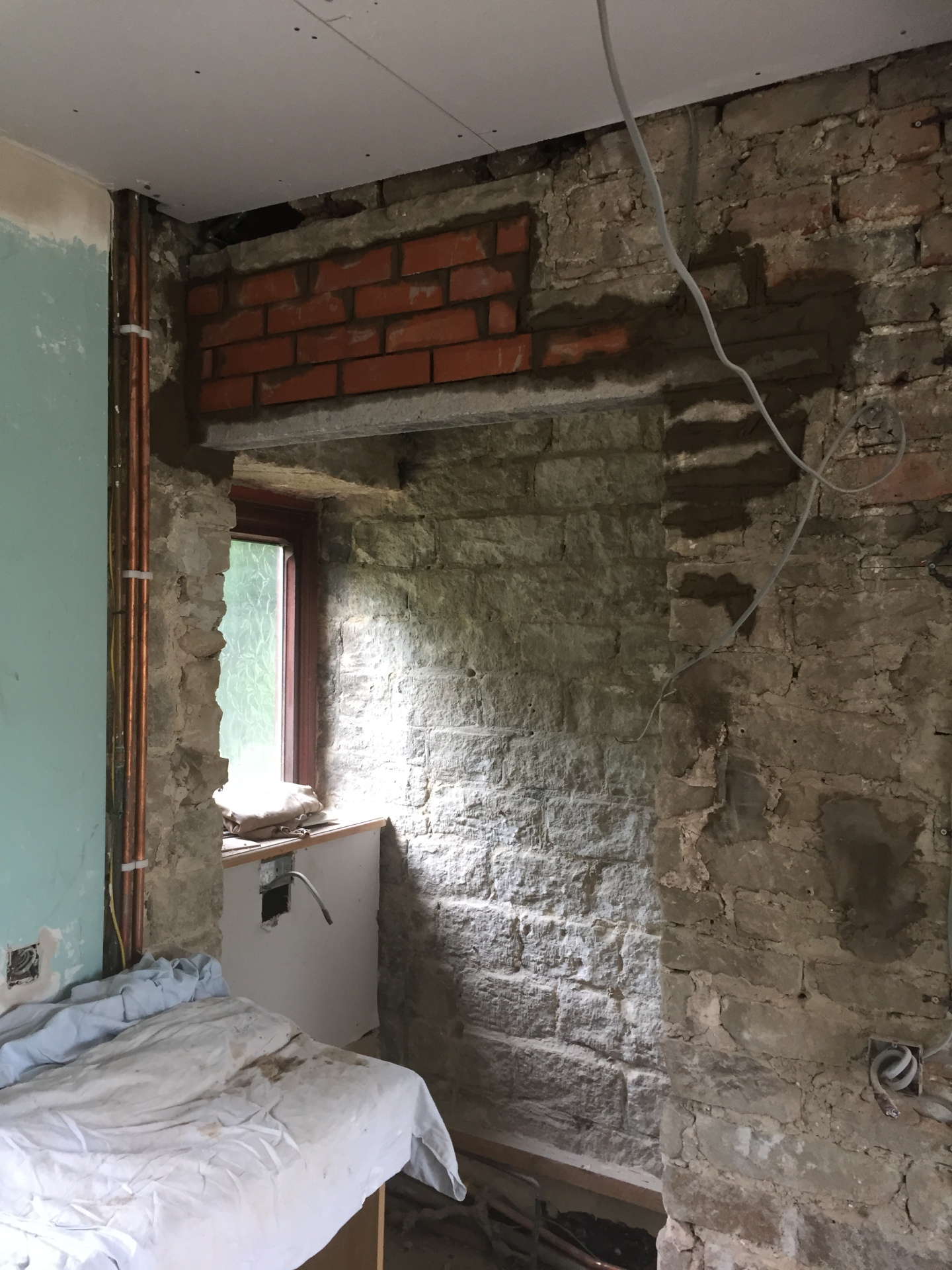 door lintel installation