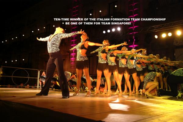 latin formation team, dance shows, italian champion