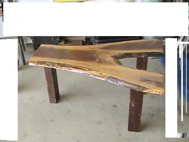 BLACK WALNUT TREE SLAB COFFEE TABLE