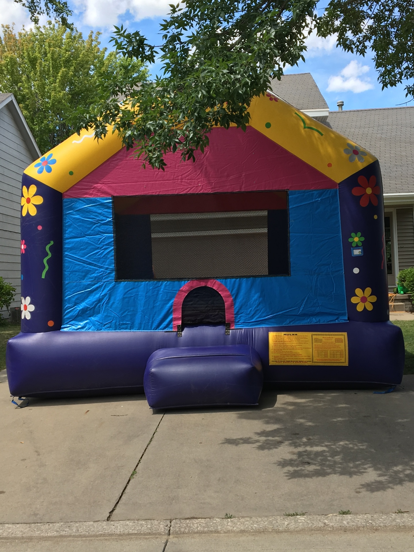 Floral Bounce House $225