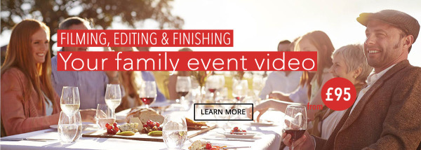 Filming editing finishing family event video