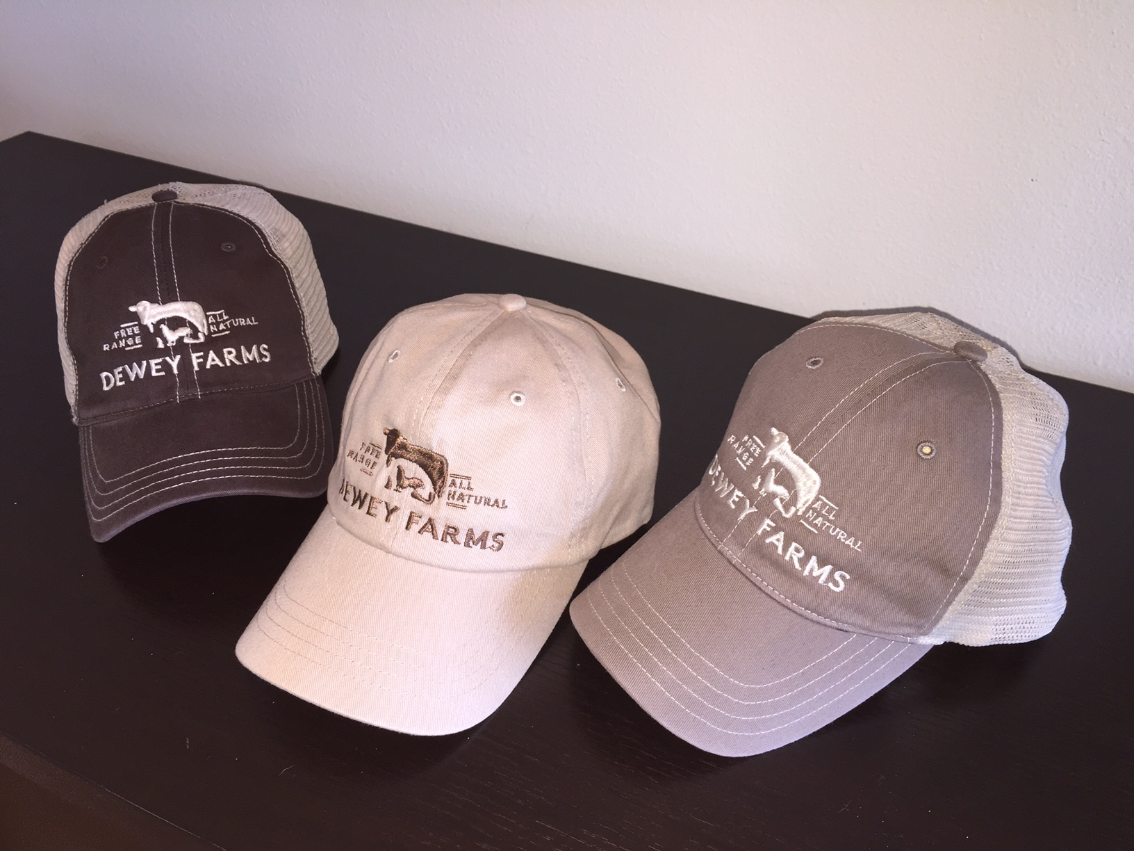 Dewey farms hats