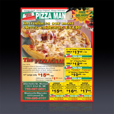 Pizza Man coupon ad