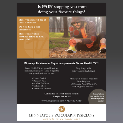 MPLS Vascular Physicians print ad