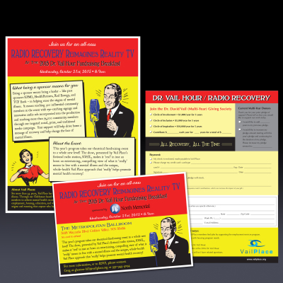 marketing materials for fundraising event