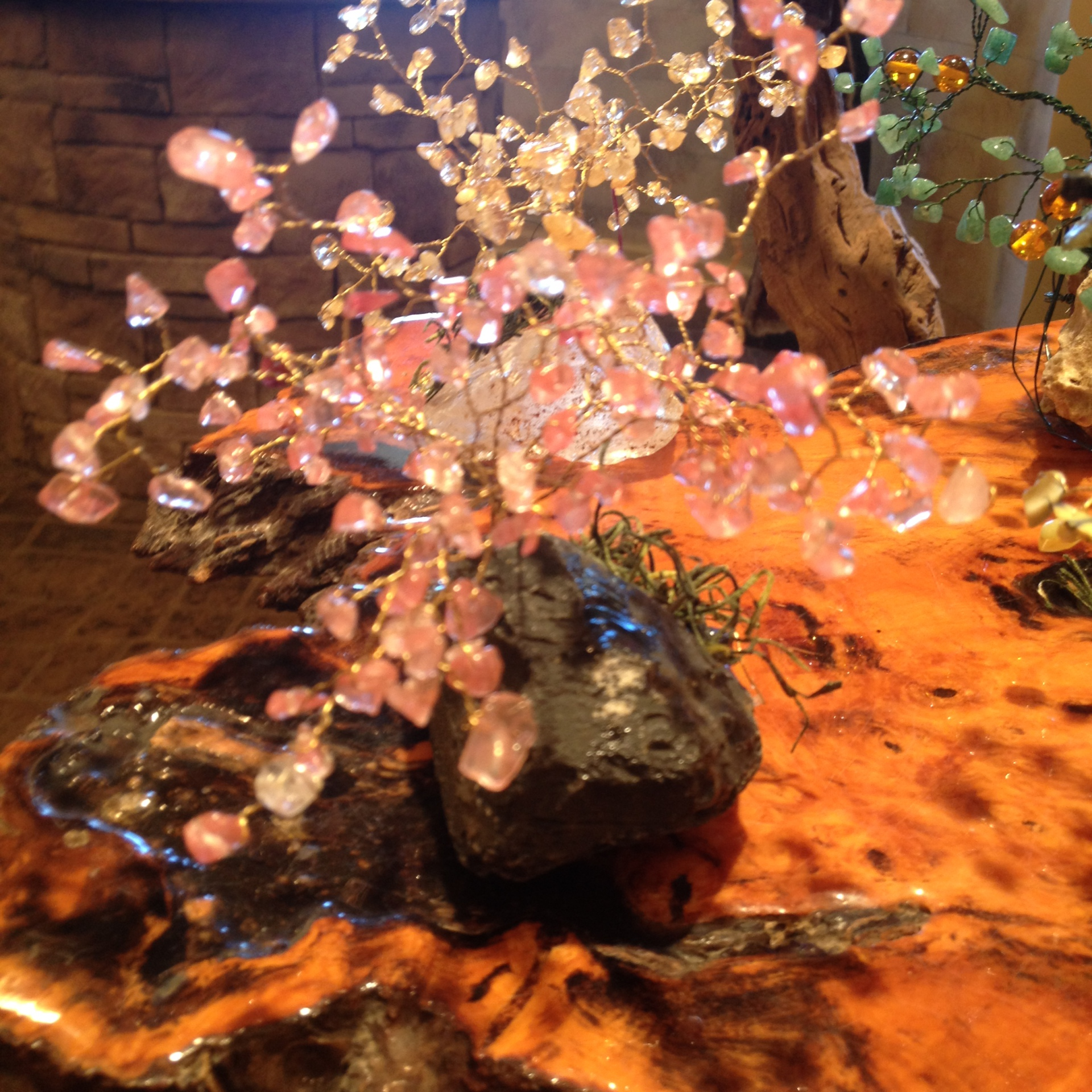 Cherry Quartz Gem Trees