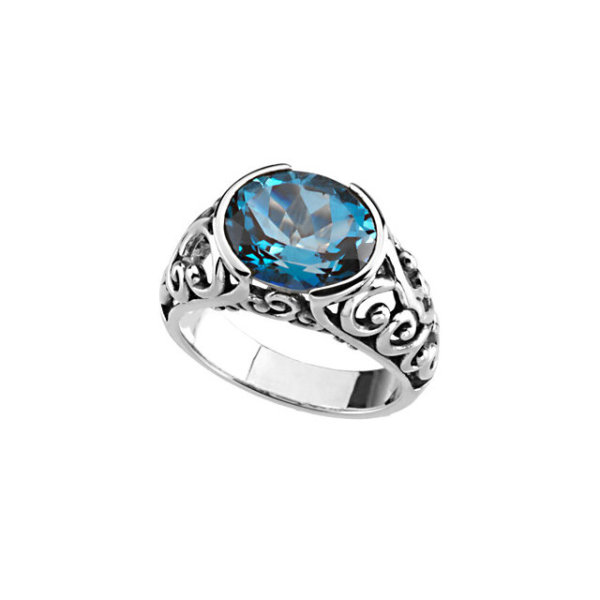 Blue Topaz Sterling