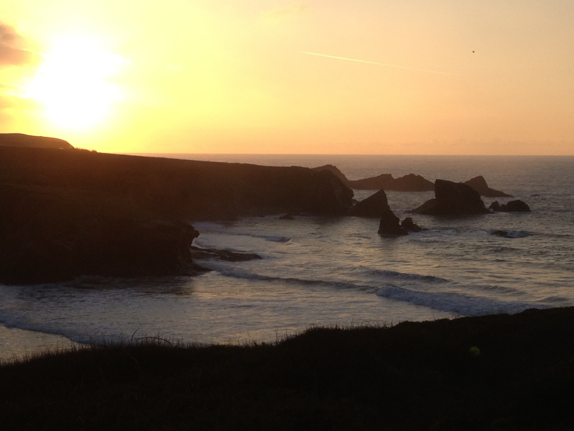 Porthcothan sunset