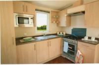 The kitchen in the new caravan