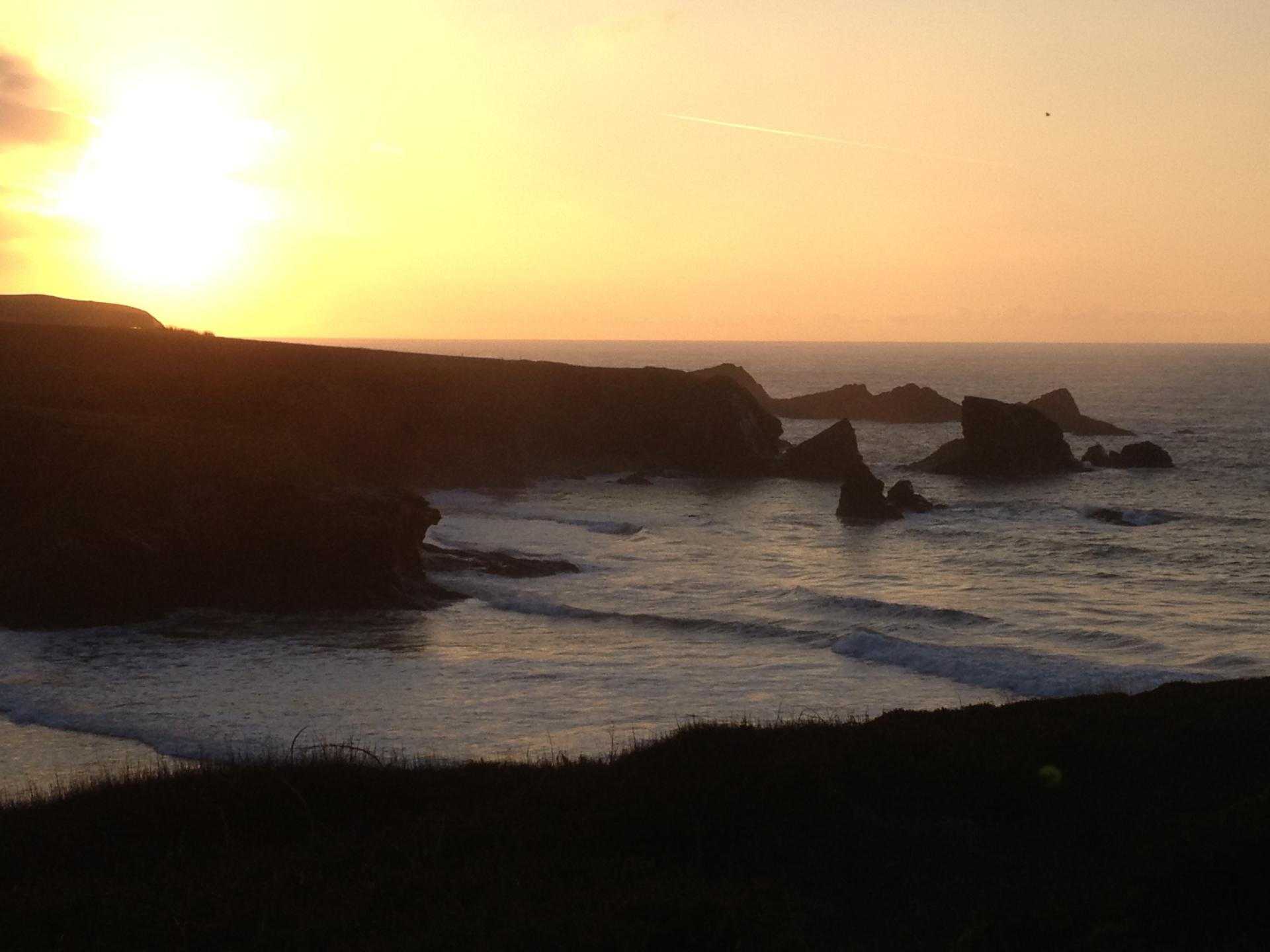 Portthcothan sunset