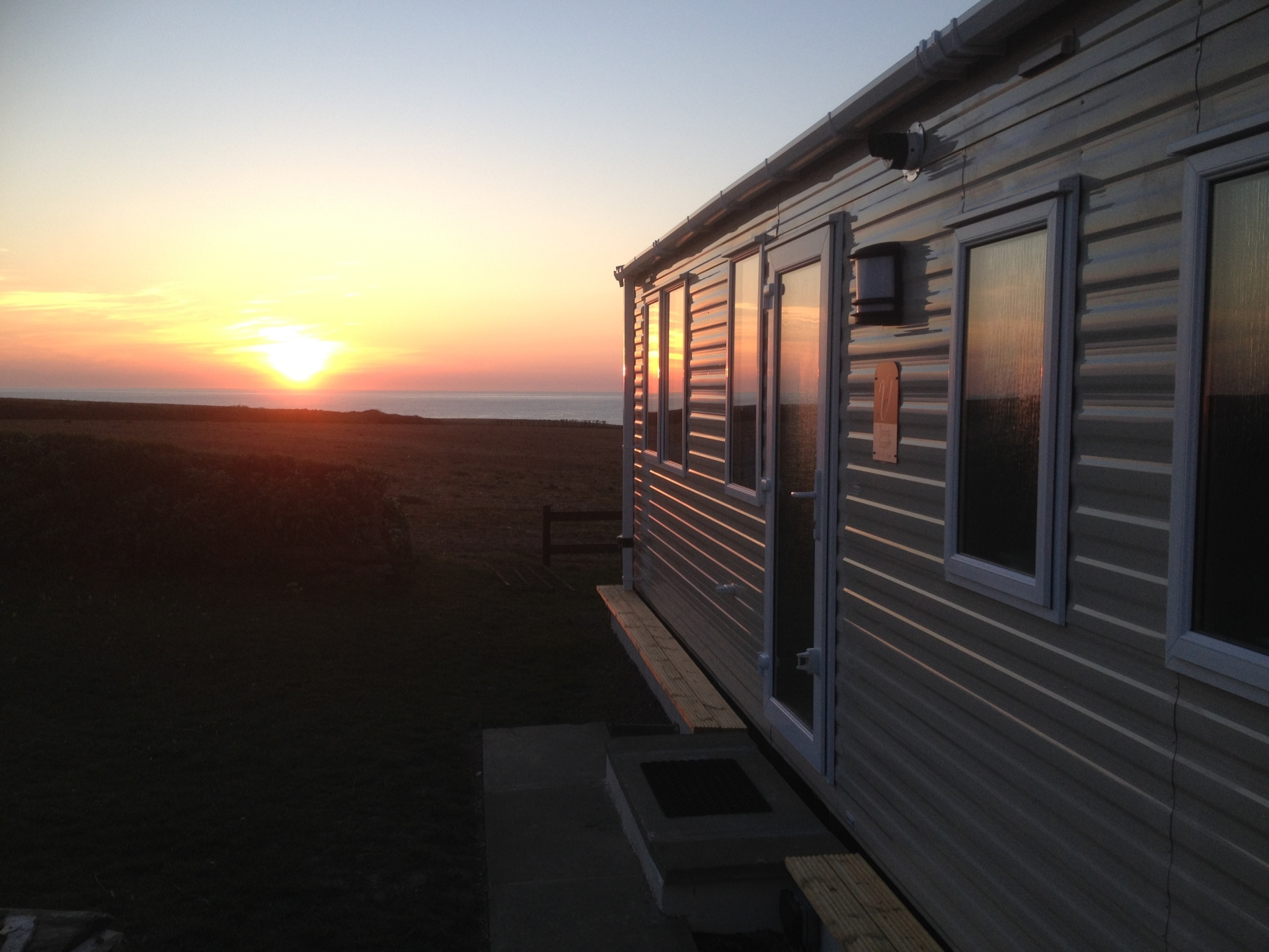 The view of the sea from the caravan